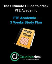 PTE Study Plan 3 Weeks Crucibledesk